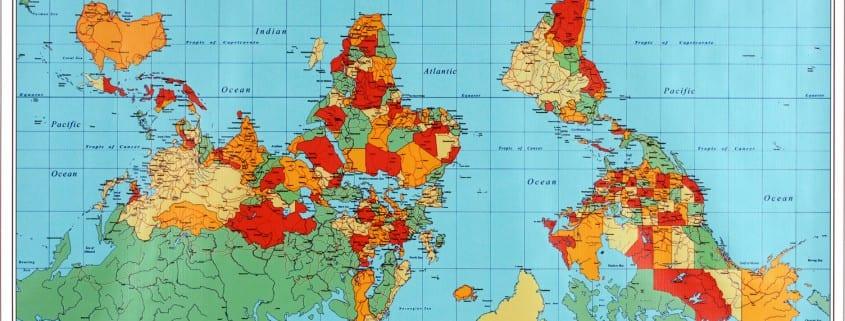 WORLD POETICAL MAP: R & R Studios, Roberto Behar & Rosario Marquardt